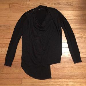 AllSaints black/gray women's sweater - sz 4